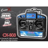CopterX (CX-S03) 8-Channel 3D Flight USB RC Flight Simulator