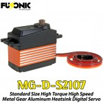 Fusonic (MG-D-S2107) Standard Size High Torque High Speed Metal Gear Aluminum Heatsink Digital Servo 56G 7KG 0.08sec