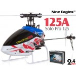 Nine Eagles (NE-R/C-125A-SOLO-PRO-RS-CASE) SOLO PRO 125 6CH Flybarless Micro Helicopter with J6 PRO Transmitter and Aluminum Carrying Case RTF (Red-Silver) - 2.4GHz