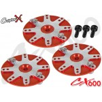 CopterX (CX600BA-08-01) 25T Aluminum Servo Horns (for Futaba, Align, Savox, ACE, Orion)