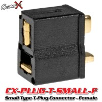 CopterX (CX-PLUG-T-SMALL-F) Small Type T-Plug Deans Style Connector - Female
