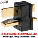 CopterX (CX-PLUG-T-SMALL-M) Small Type T-Plug Deans Style Connector - Male
