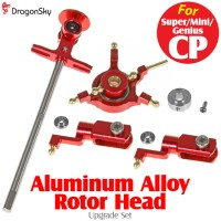 DragonSky (DS-SUPER-CP-RH-R) Super CP / Mini CP / Genius CP Aluminum Alloy Rotor Head Upgrade Set (Red)
