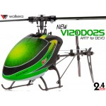 WALKERA NEW V120D02S Flybarless 6-Axis-Gyro System 6CH Helicopter For DEVO Transmitter (TX not included) ARTF (Green) - 2.4GHz