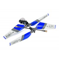 SH (SH-6020-1-HEAD-BLUE) 6020-1 Swift 3CH Helicopters Complete Rotor Head Assembly Set (Blue)